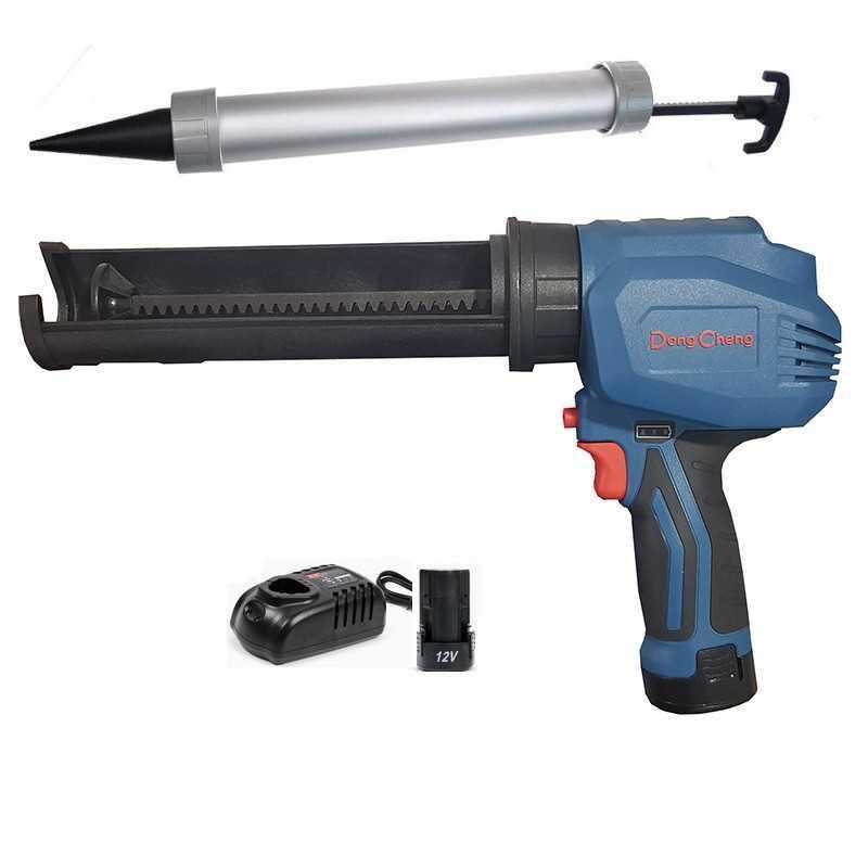 Pistola Calafatera Inalámbrica 12V - 2.0 Ah+ Baterías+ Cargador+ Adaptador DONGCHENG DCPJ12-E