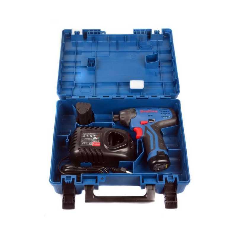 """Atornillador de Impacto Inalámbrico 12V - 6.35 MM (1/4"""") + Baterías 1.5 Ah + Cargador. DONGCHENG DCPL02-8E"""