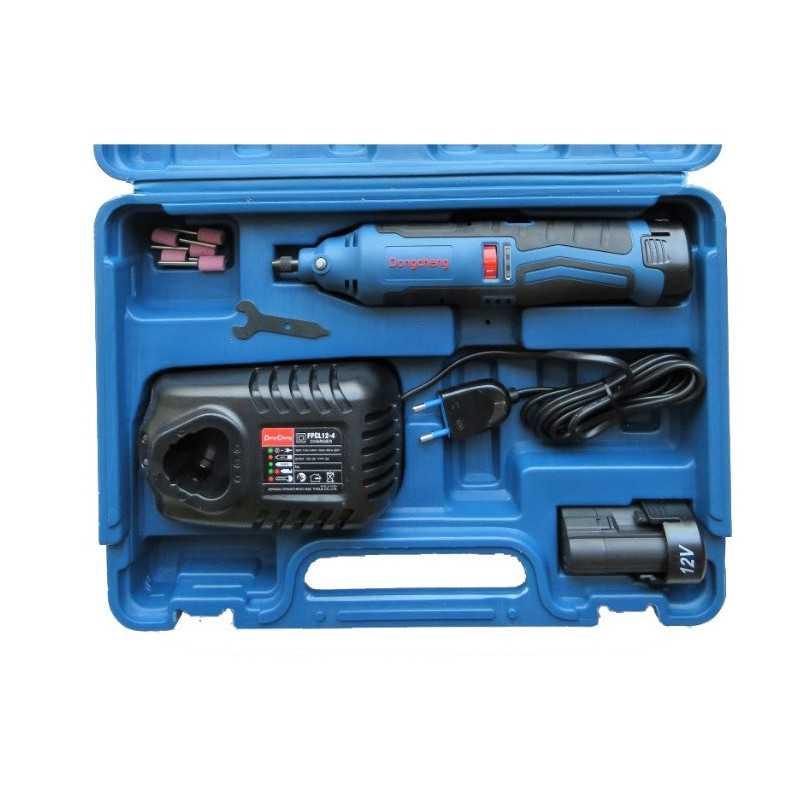 Rectificador Inalámbrico 12 V 10 MM + Baterías 2.0 Ah + Cargador + Accesorios. DONGCHENG DCSJ10E