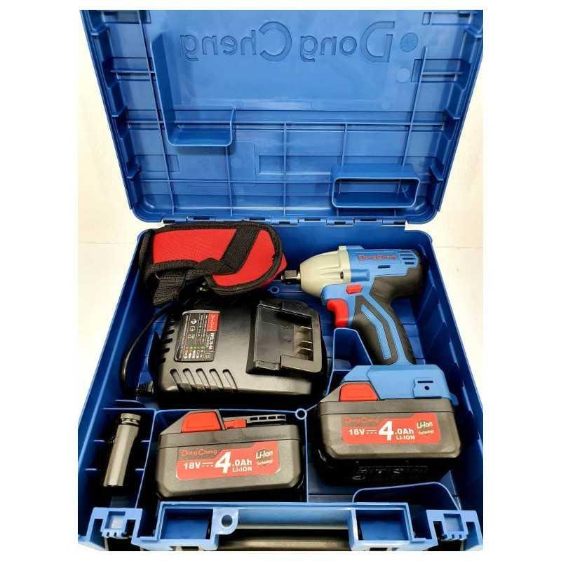 """Llave de Impacto Inalámbrica 18V - 1/2"""" + Baterías 4.0 Ah + Cargador. DONGCHENG DCPB02-18E"""