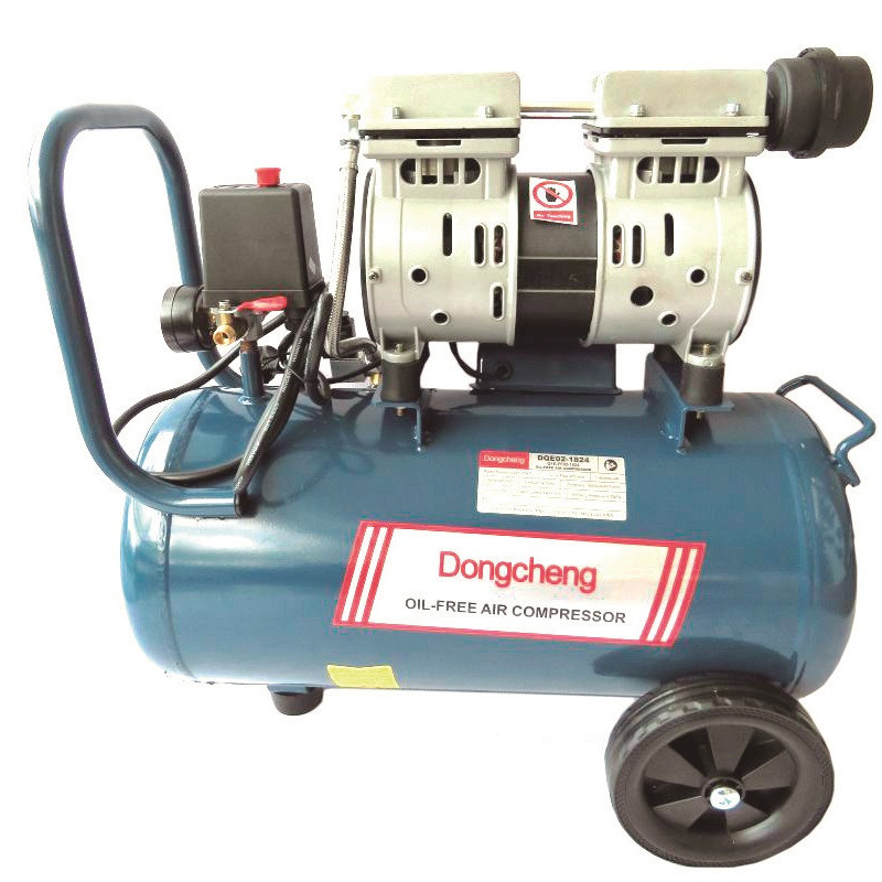Compresor de Aire libre de aceite 800 W - 7 BAR - 24 L. DONGCHENG DQE02-1824