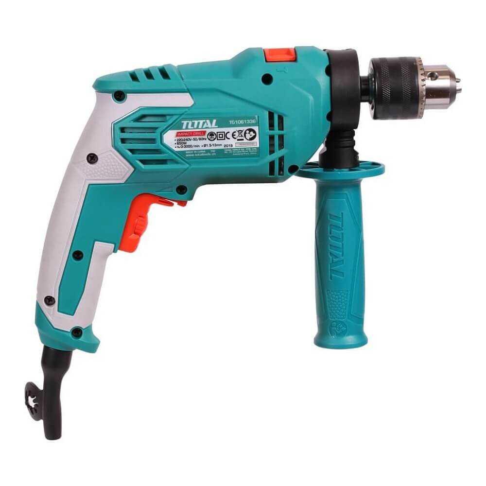 Taladro Percutor Electrico 13MM 650W 3.000 RPM Total Tools TG1061336-2