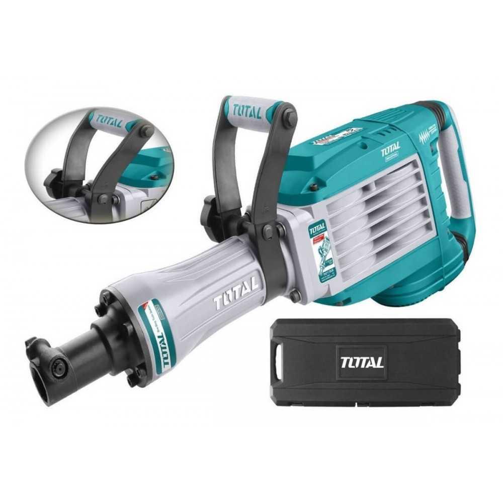 Martillo Demoledor 1700W 50J + 2 CINCELES. Total Tools TH217506