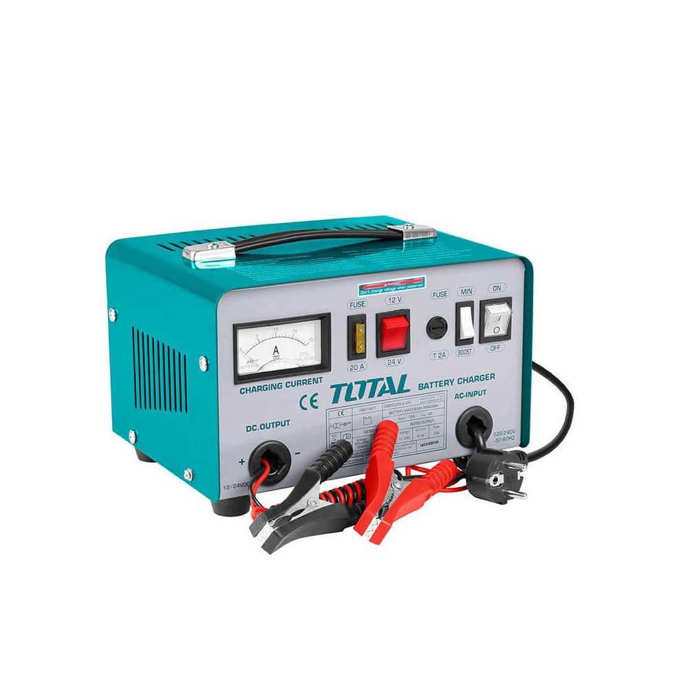 Cargador de Batería 12A 24V. Total Tools TBC1601