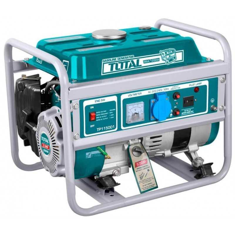 Generador Eléctrico a Gasolina 1200 W. Total Tools TP115001