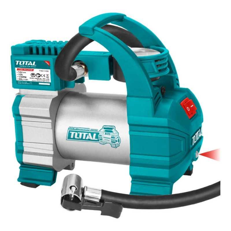 Compresor de Aire para Auto 12V 140PSI. Total Tools TTAC1406