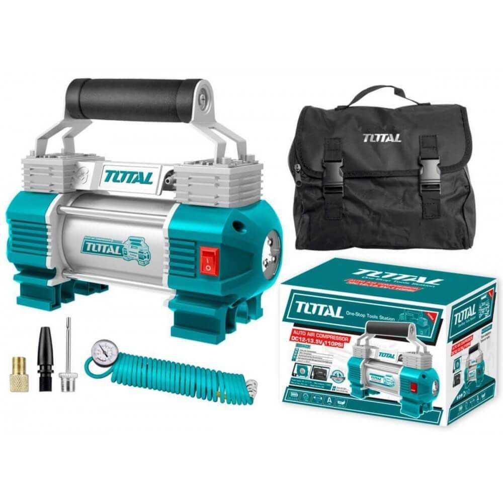 Compresor de Aire para Auto 12V 110PSI CON LUZ. Total Tools TTAC2506