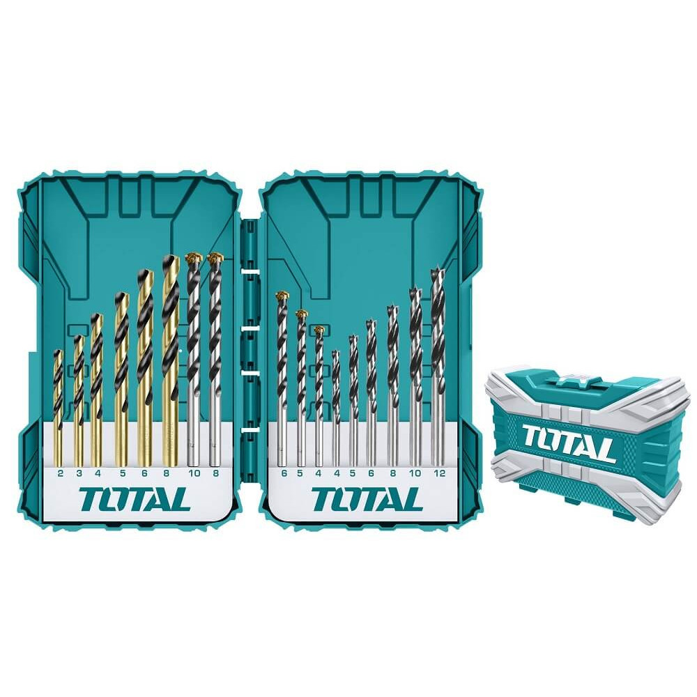 Set Brocas para metal, concreto y madera 16PCS. Total Tools TACSDL11601
