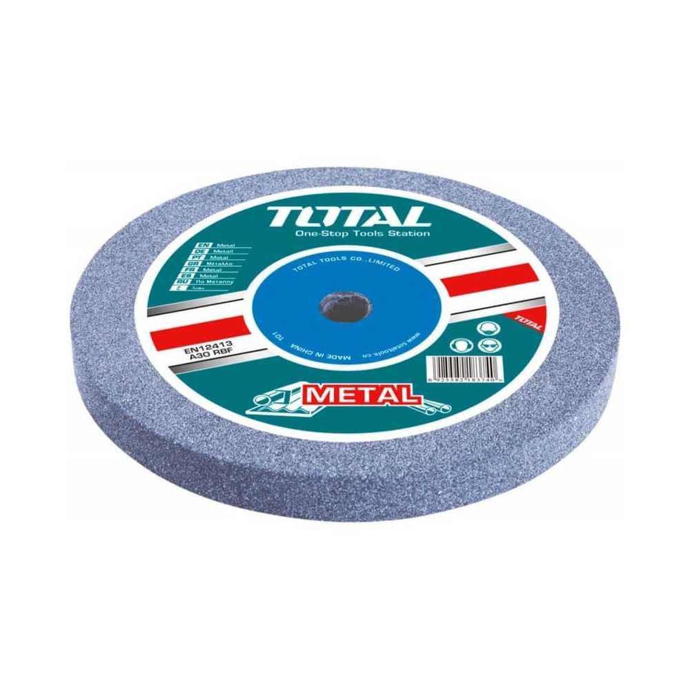 Disco Piedra Abrasiva para Esmeril de Banco GR.36 200x16x20MM. Total Tools TAC25200361