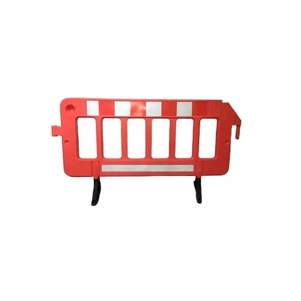 Barrera de Seguridad Plástica Premium 198x82x50 cm. Kupfer 141827