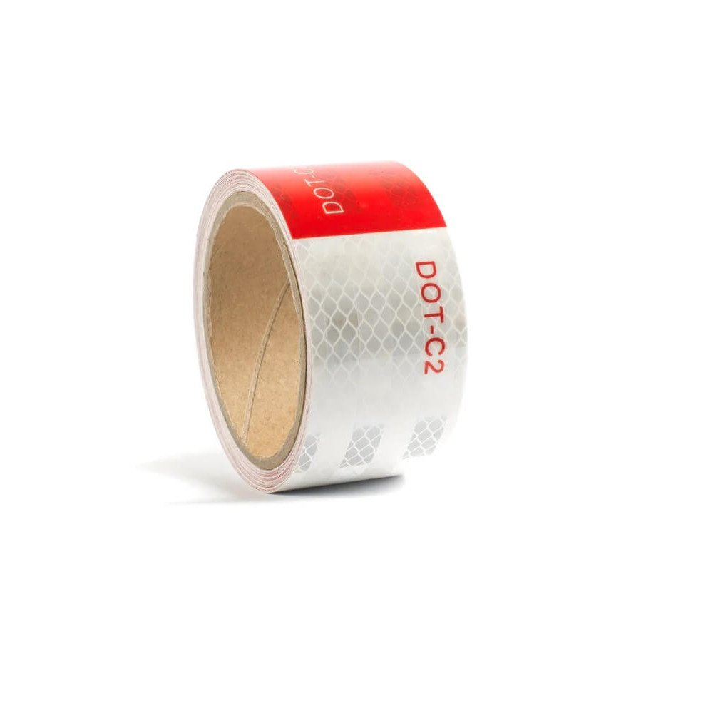 Cinta Reflectante Roja/Blanca 50 MM X 45.72 M. Kupfer 142079