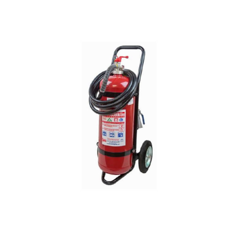 Extintor 50 KG Para Incendios ABC con Carro Exanco 140634