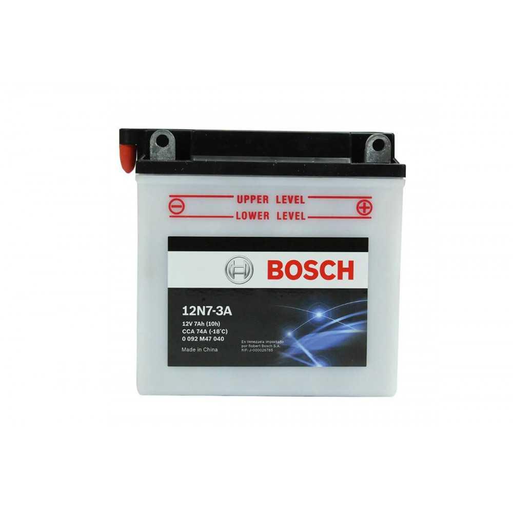 Batería de Moto 12V 7Ah Positivo Derecho M4 Bosch 3912N7-3A