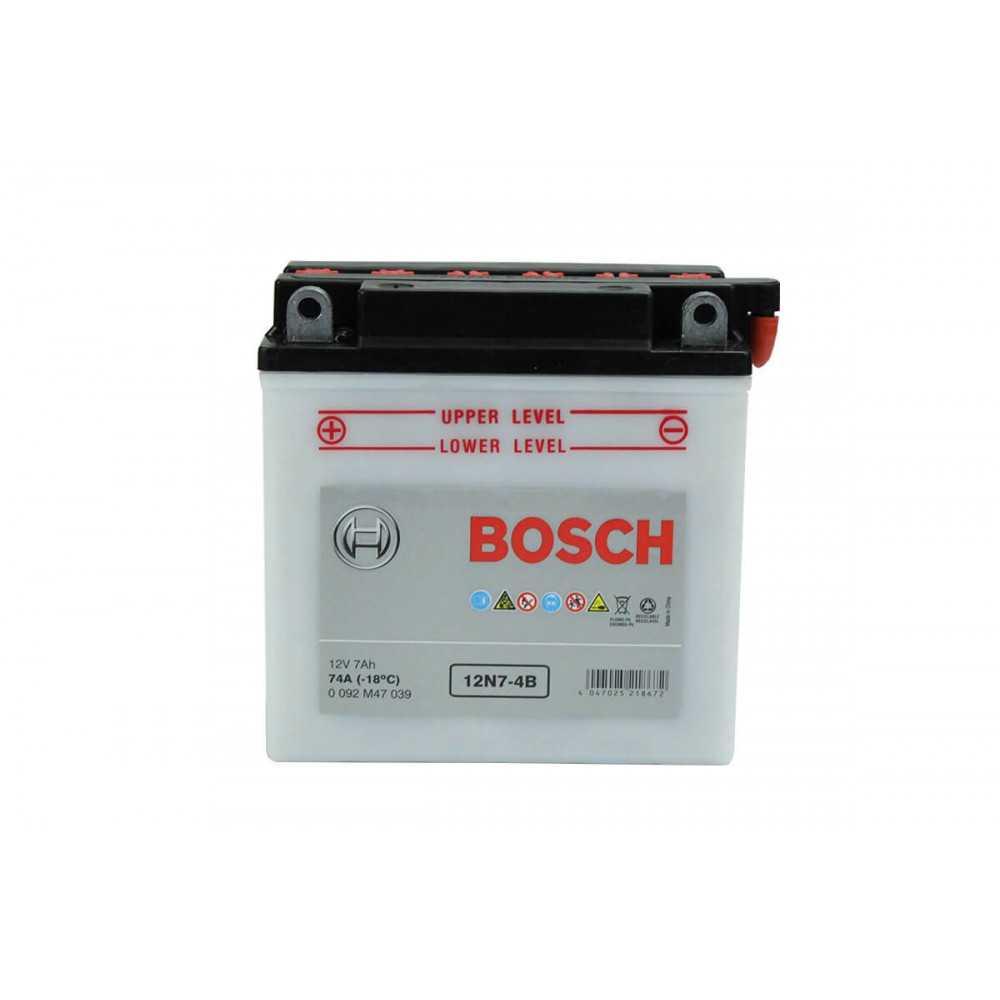 Batería de Moto 12V 7Ah Positivo Izquierdo M4 Bosch 3912N7-4B