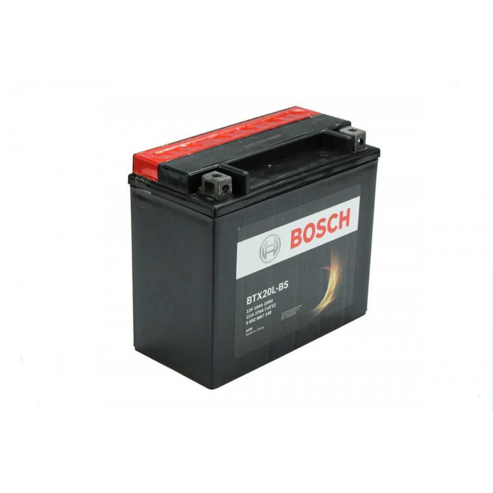 Batería de Moto 12V 18Ah Positivo Derecho M6 Bosch 39BTX20L-BS