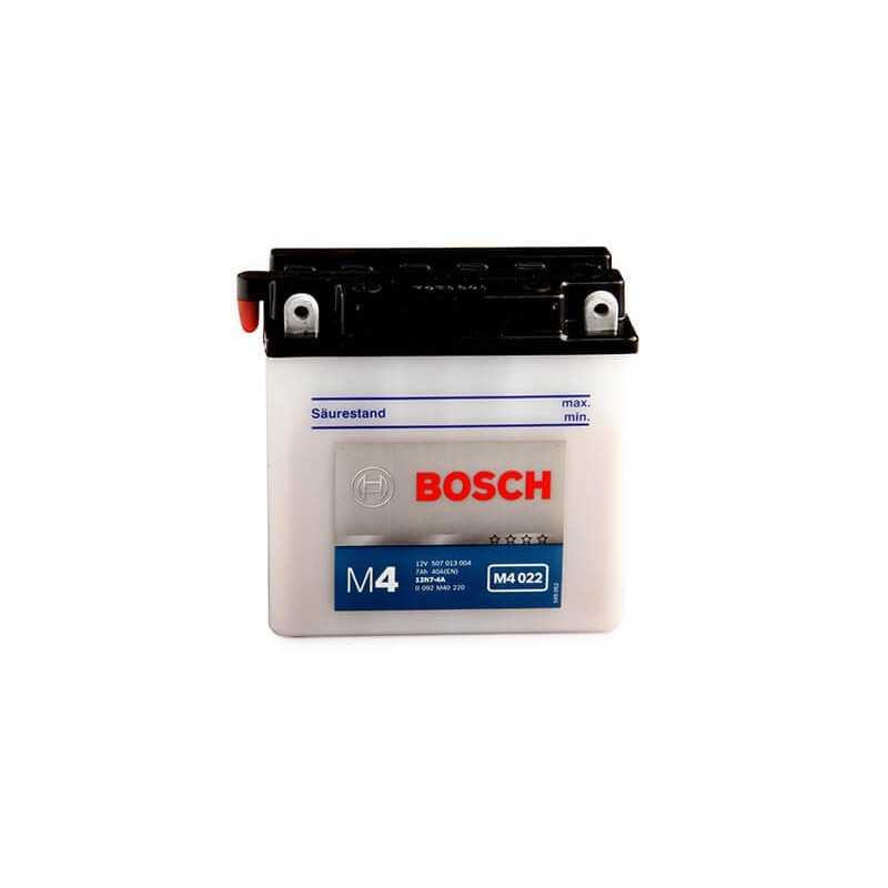 Batería de Moto 12V 7Ah Positivo Izquierdo M4 Bosch 3912N7-4A