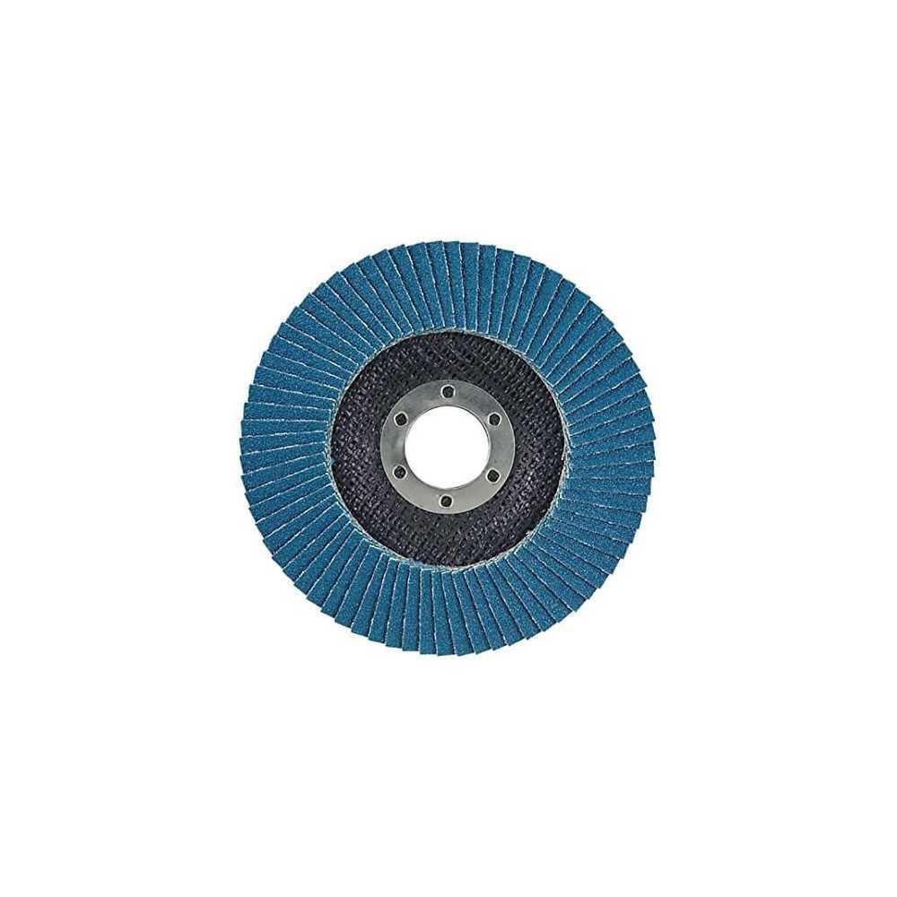 Disco Flap 115x22.23mm Grano 40 Zircón / Metal y Acero Inoxidable Makita D-27436