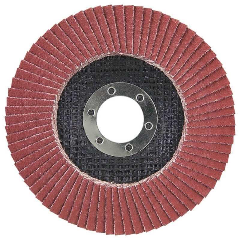 Disco Flap 115x22.23mm Grano 120 Ce / Metal y Acero Inox. Ángulo Makita D-28329