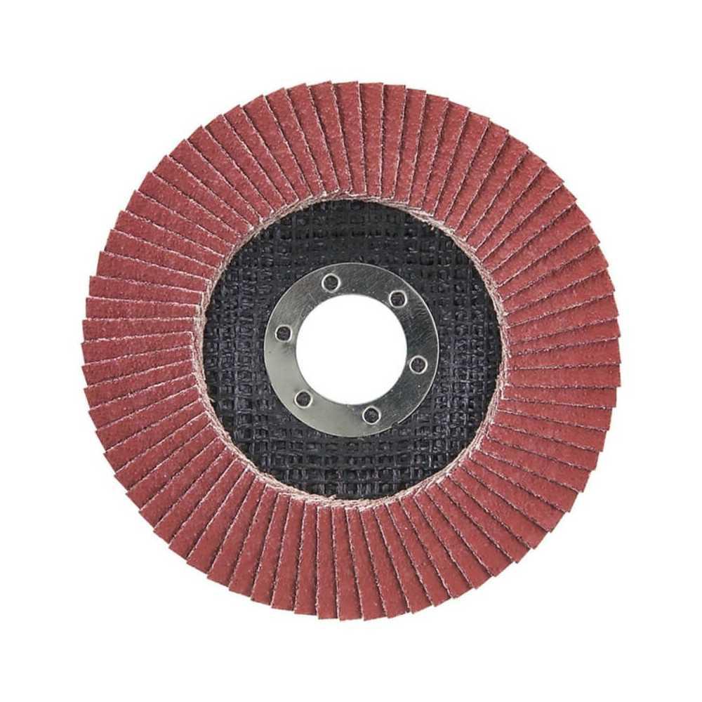Disco Flap 180x22.23mm Grano 120 Ce / Metal y Acero Inox. Ángulo Makita D-28400