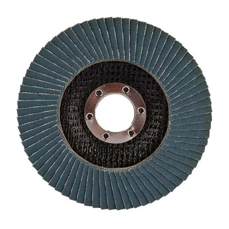 Disco Flap 180x22.23mm Grano 60 Óxido de Aluminio / Metal Ángulo Makita D-63529