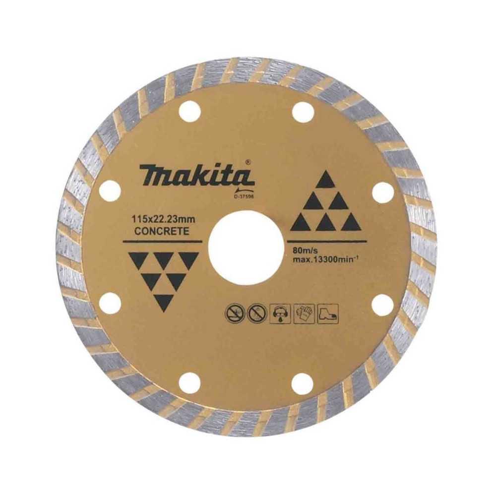 Disco Diamantado Turbo Ondulado 115x22.23mm / Seco / Concreto Makita D-37596