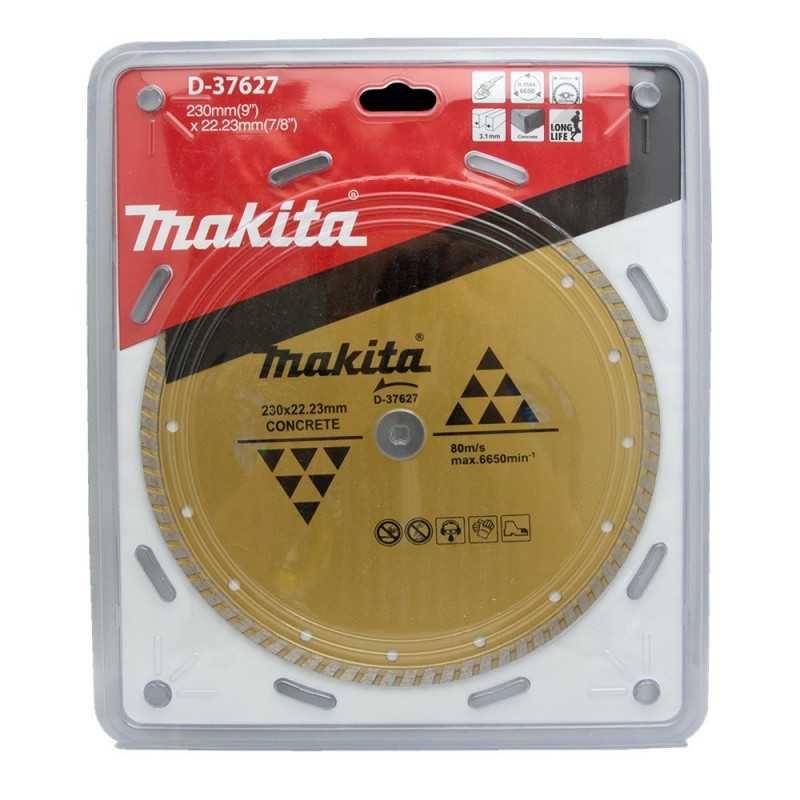 Disco Diamantado Turbo Ondulado 230x22.23mm / Seco / Concreto Makita D-37627