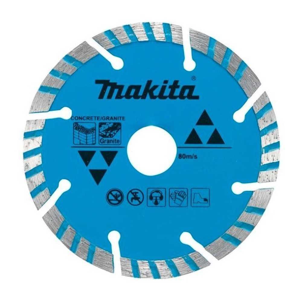 Disco Diamantado Turbo/Segmentado 115x22.23mm Concreto y Granito Makita D-41420