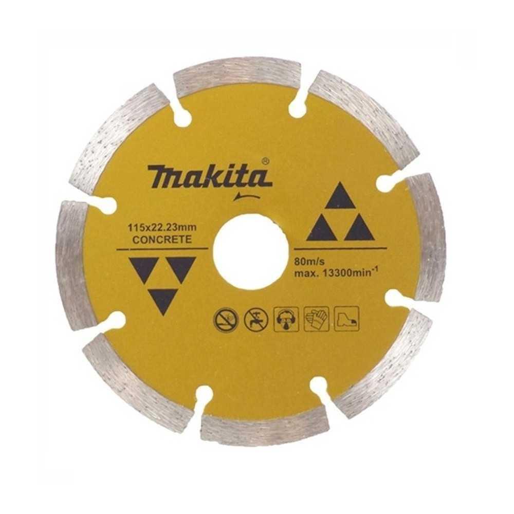 Disco Diamantado Segmentado 115x22.23mm Para Concreto Makita D-44270
