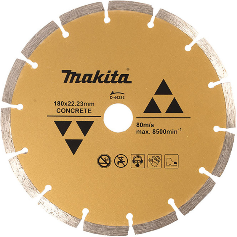 Disco Diamantado Segmentado 180x22.23mm Para Concreto Makita D-44286