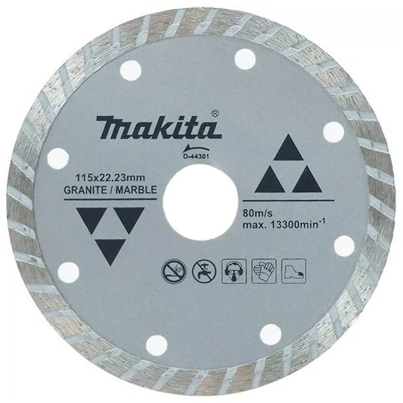 Disco Diamantado Turbo Ondulado 115x22.23mm Para Granito / Mármol Makita D-44301