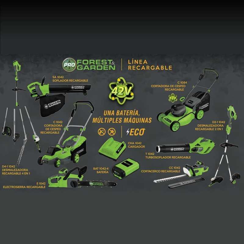 Cortasetos Inalámbrico 500mm CCR 750/42 + Batería 42V 4Ah + Cargador Forest And Garden MI-FYG-054124