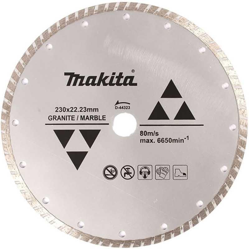 Disco Diamantado Para Granito /Mármol Ondulado 230X22.23MM. Makita D-44323