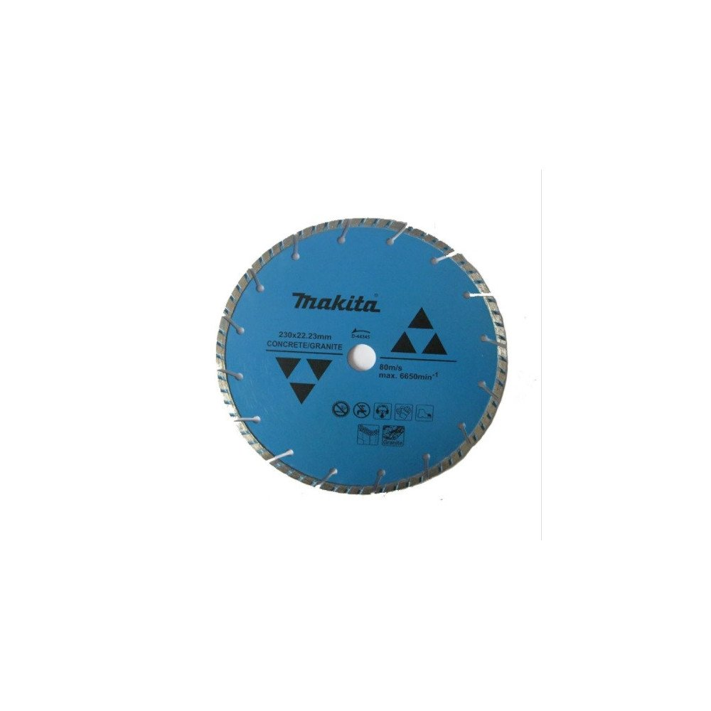 "Disco Diamantado Turbo Segmentado 9"" 230mmx22.23MM para Concreto Makita D-44345"