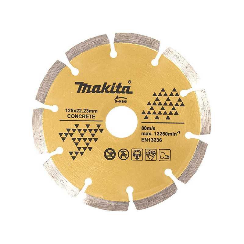 Disco Diamantado Segmentado 125x22.23mm Para Concreto Makita D-44395