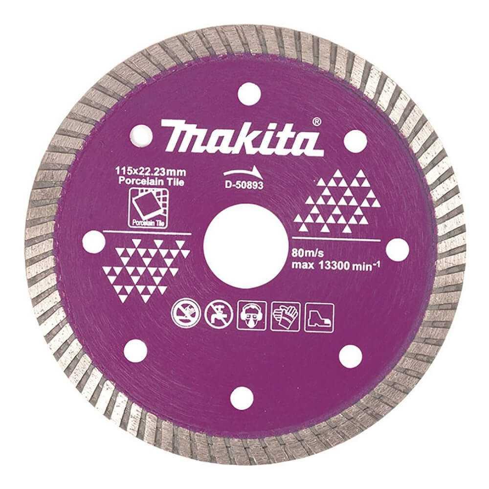 Disco Diamantado Turbo / Porcelanato 115X 22.23MM Makita D-50893
