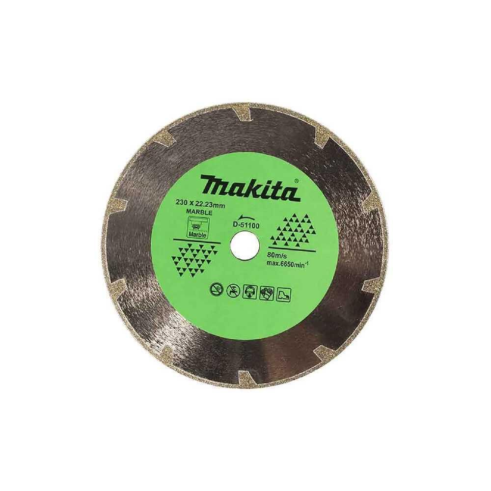 Disco Diamantado Electrochapado 230x22.23MM Para Mármol Makita D-51100