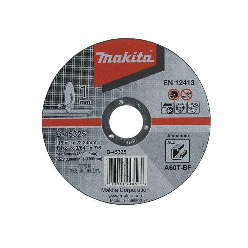Disco de Corte Aluminio 115x1x22.23MM A60T Makita B-45325