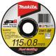 Disco Abrasivo Acero Inox 115x0.8x22.23MM Z60T Makita B-45727