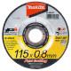 Disco Abrasivo Acero Inox 115x0.8x22.23MM Z60T-BF Makita B-46947