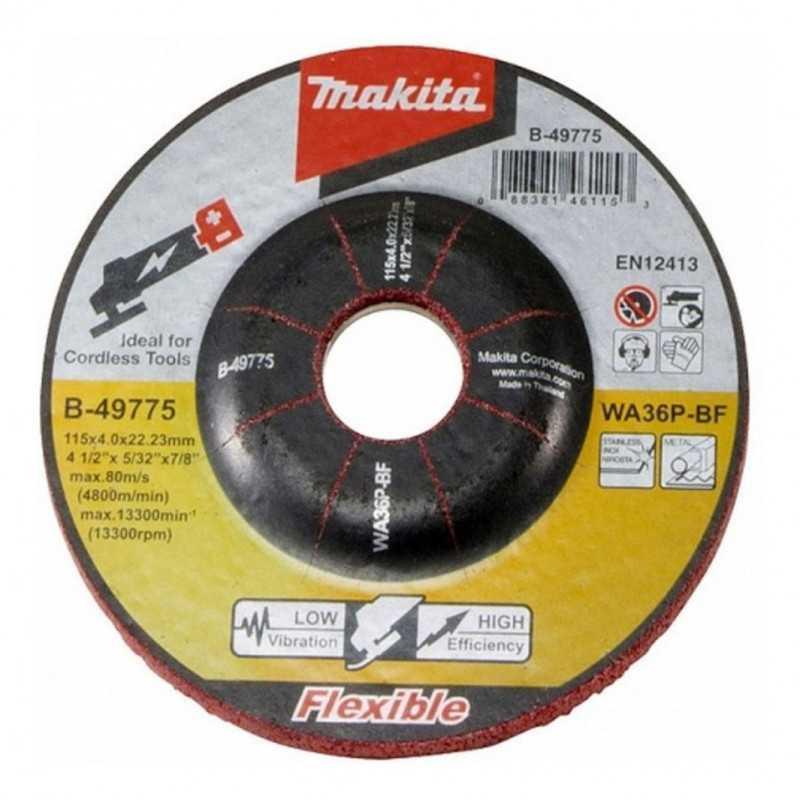 Disco Desbaste Flexible 115x4.0x22.23MM WA36P Makita B-49775
