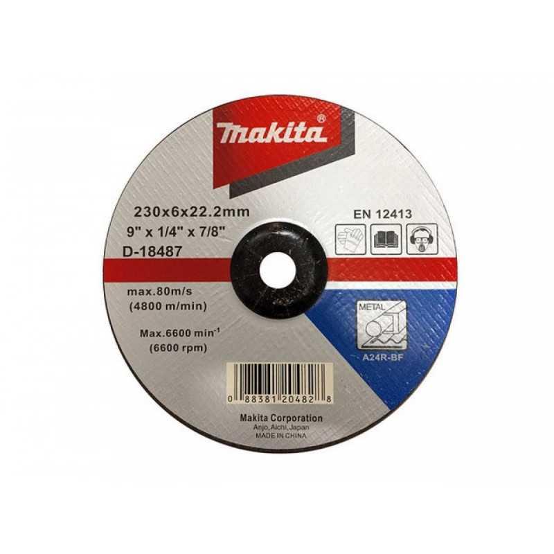 "Disco Desbaste Metal 9"" / 230x6x22.23MM A24R-BF Makita D-18487"
