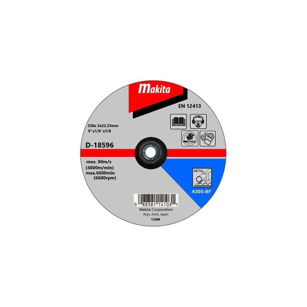 "Disco Corte Metal 9"" / 230x3x22.23MM A30S-BF Makita D-18596"