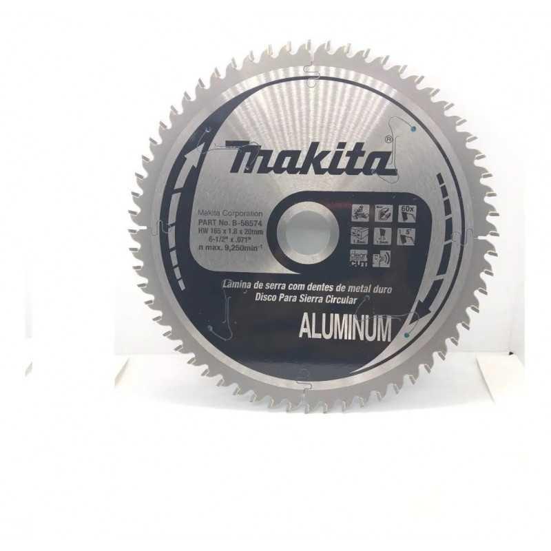 "Disco de Corte Aluminio 6-1/2"" 165x20MM 60D EFFICUT Makita B-56574"