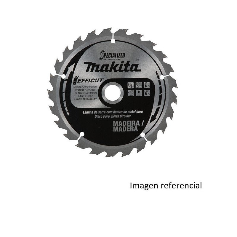 """Disco Sierra Madera EFFICUT 12"""" / 305x30MM 60D Makita B-67402"""