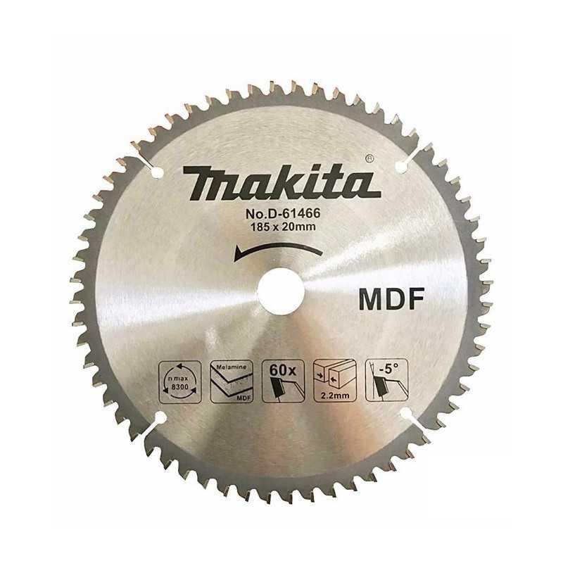 """Disco Sierra Madera/MDF 7-1/4""""x20MM 60D Makita D-61466"""
