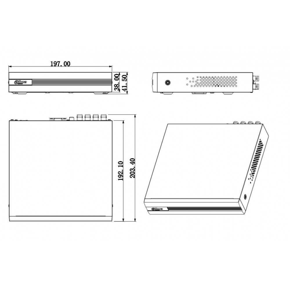 XVR Grabador Digital 4 Canales Penta-Hibrido 1080N/720P XVR1B04 Sin HDD Dahua 1202172164