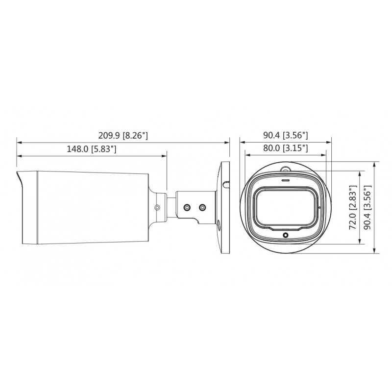 Cámara de Seguridad Bullet HDCVI 60m 2MP HFW1200R-Z-IRE6-S4 Dahua 1201172213