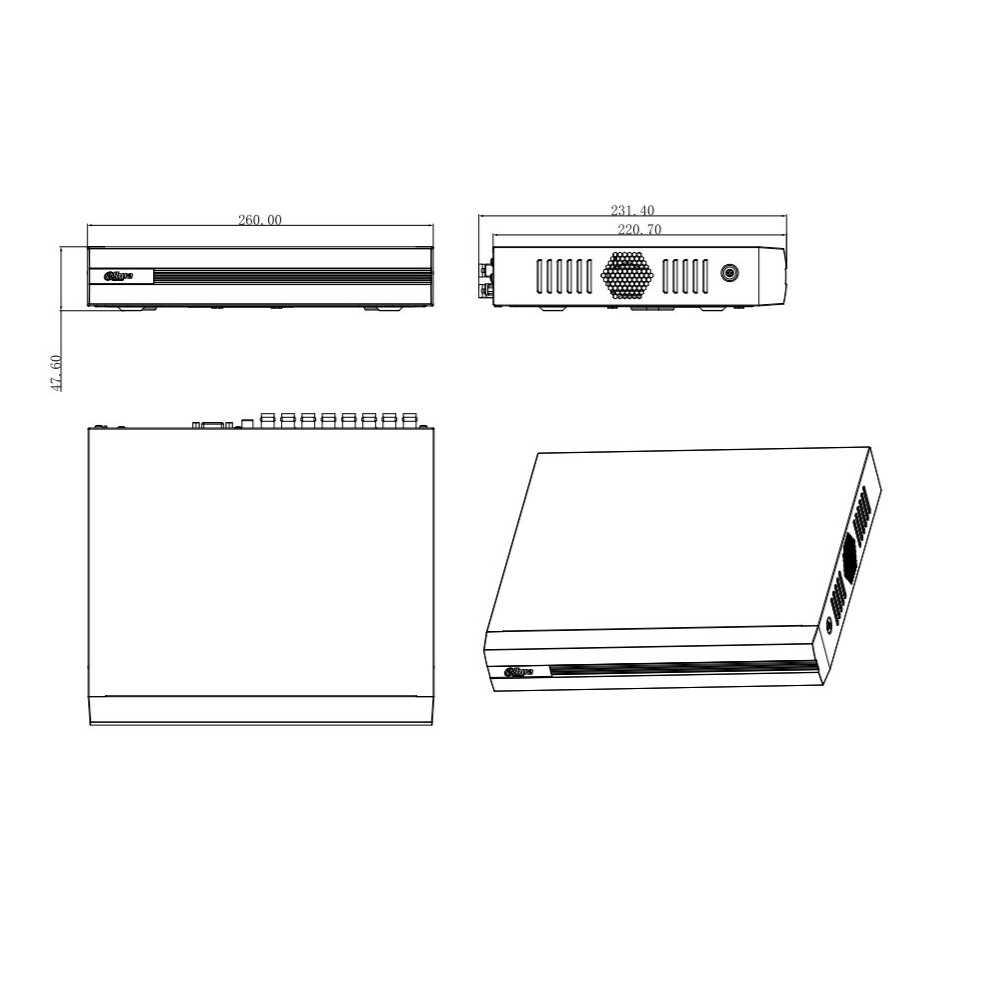 XVR Grabador Digital 16 canales Penta-Hibrido 4M-N/1080P Dahua XVR1B16H