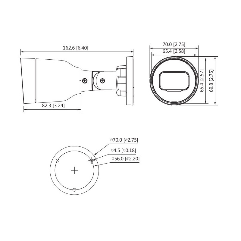 Cámara de Seguridad Bullet IR IP 30m 2MP IPC-HFW1230S1N-S4 Dahua 1201172329