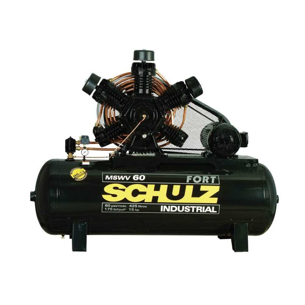 Compresor de Aire 15HP 380V 425LT MSWV 60 FORT/425 Schulz 9343462-0